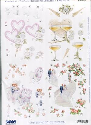 Трафареты на бокалы свадебные