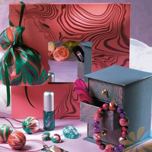Краска д/марморирования Marabu-Easy-marble, цвет Вишневый