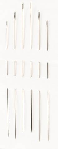 Иглы ручные для бисера №10-15, 6 шт