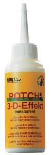 Гель-лак Potch Plus Hobby-Line для создания объема, 3-D эффект, 80мл