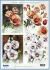 Карта серии Цветы Розы и мальва
