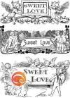 Салфетка для декупажа на стекле Sweet love
