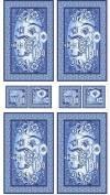 Ткань для пэчворка, панель, 60х110см, коллекция Лазурное чудо