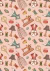 Ткань для пэчворка, 50х55см, серия Век моды, цвет Розовый