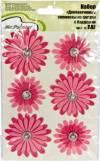 Набор розовых цветов с брадсами