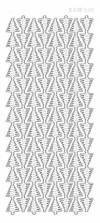 Контурные наклейки Бордюры из новогодних елок , цвет Серебро