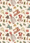 Ткань для пэчворка, 50х55см, серия Век моды, цвет Бежевый