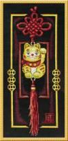 Набор для вышивания 20х42см Золотой котик