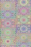 Бумага DECOPATCH Цветочки из точек, неон