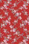 Бумага DECOPATCH Розовые цветы на красном