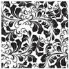 Трансфер-натирка  Фоновый узор, 17х25см, цвет черный
