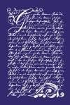 Трафарет Старинная поэзия со скребком на сетчатой основе для высокоточного нанесения