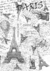 Калька с принтом Париж, А4