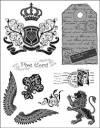 Набор штампов силиконовых Viva Silikon Stempel Герб, лев, крылья