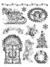 Набор штампов силиконовых Viva Silikon Stempel Новый год ностальгия