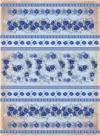 Бумага рисовая Craft Premier Синие цветы полоски