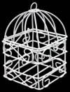 Металлическая клетка с квадратным дном белая