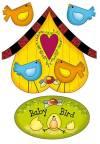 Войлочное полотно с напечатанным рисунком, 14,8х21см, Птички