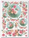 Войлочное полотно с напечатанным рисунком, 50х70см, Розы