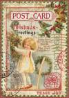 Бумага рисовая Stamperia А4 Рождественская открытка