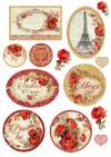 Бумага рисовая Stamperia А4 Красные розы