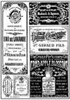 Бумага рисовая Stamperia А4 Старинные наклейки