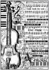 Бумага рисовая Stamperia А4 Ноты и виолончель