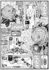 Бумага рисовая Stamperia А4 Розы и бабочки