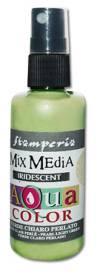Краска-спрей Aquacolor Spray с переливч.эффектом для техники Mix Media, 60мл, цвет Светло-зеленый перламутр