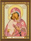 Набор для вышивания в смеш.технике 13х17см Пр. Богородица Феодоровская