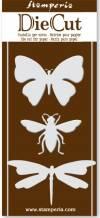 Нож для вырубки Бабочка, пчела, стрекоза