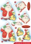Бумага с высечкой Санта
