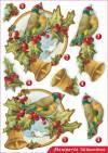 Бумага с высечкой Новогодний колокольчик