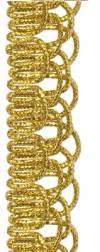 Тесьма металлизированная, 1м, цвет Золото
