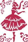 Трафарет 21х29,7см, Балерина