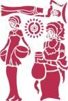 Трафарет 21х29,7см, Этнические фигуры