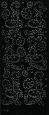 Контурные наклейки Листья 2, цвет Черный