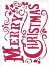 Трафарет 15х20см, Веселого Рождества