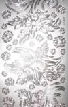 Контурные наклейки Цветочные орнаменты, цвет Серебро