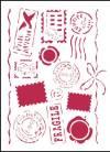 Трафарет 15х20см, Почтовые штемпели