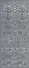 Контурные наклейки Бабочки  и божьи коровки, цвет Серебро