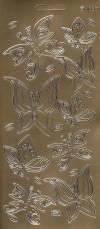 Контурные наклейки Бабочки 3, цвет Серебро