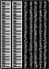 Натирка (переводные элементы), 15х22,5см, Клавиши, ноты