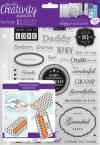 Набор резин. штампов 10,5х14,8см, 36шт. Creativity Essentials, Мужчины в семье