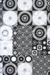 Бумага DECOPATCH Черно-белые круги Металлик