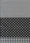 Бумага DECOPATCH Клетка-полоска-горох (черный)