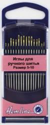 Иглы для ручного шитья с острым кончиком №5-10, 16 шт