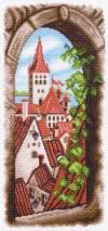 Рисунок на канве 22х45см Вид из окна