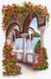 Рисунок на канве 24х35см.(28х37см) Уголок Греции