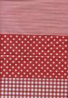 Бумага DECOPATCH Клетка-полоска-горох (красный)